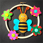 Kid's Hand Sewn Bee Art