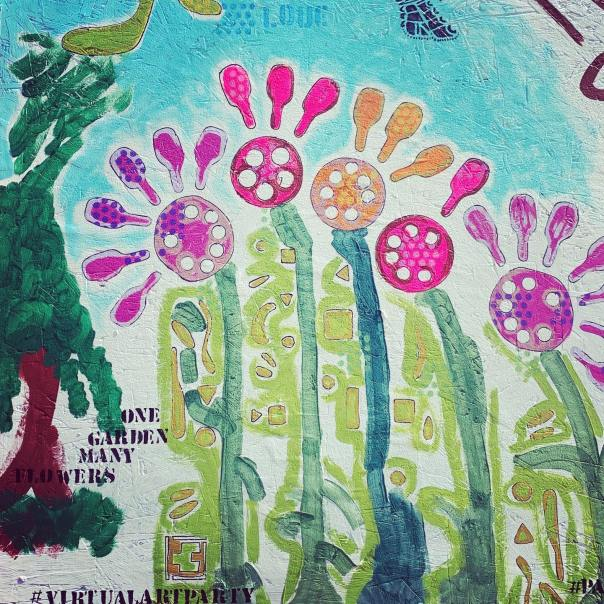 Tom and Carolyn made this as part of #paintforpeace in #ferguson MO on June 6-7.