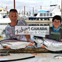 Fishing Canada King Chinook Coho Salmon Campbell River Vancouver Island
