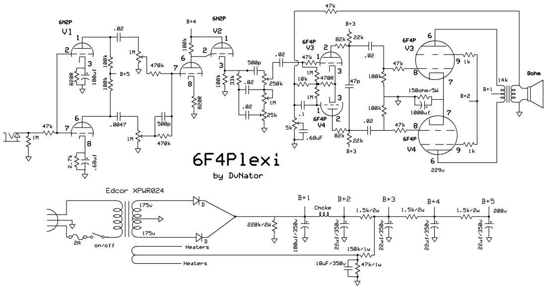 Marshall Plexi Wiring Diagram Wiring Diagram 2019