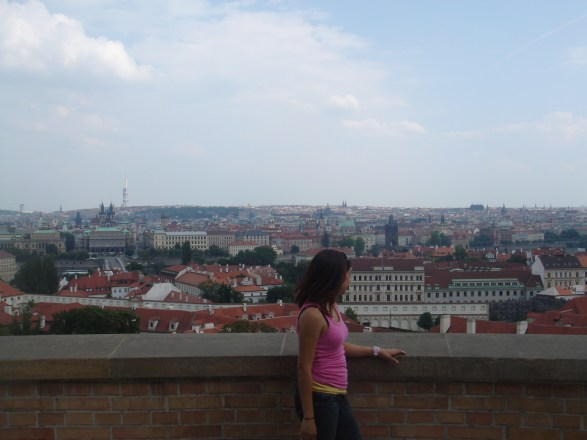 Overlooking the city Prague