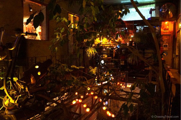 Szimpla Kert means garden so there are trees growing inside.