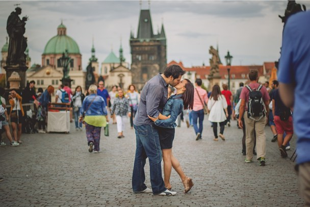 Engaged in Prague