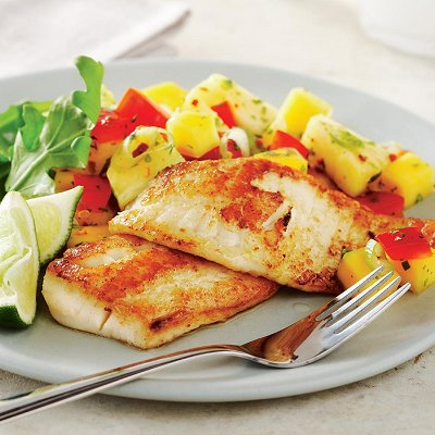 fish fillet we love it over fish but it adds a refreshing touch to pan
