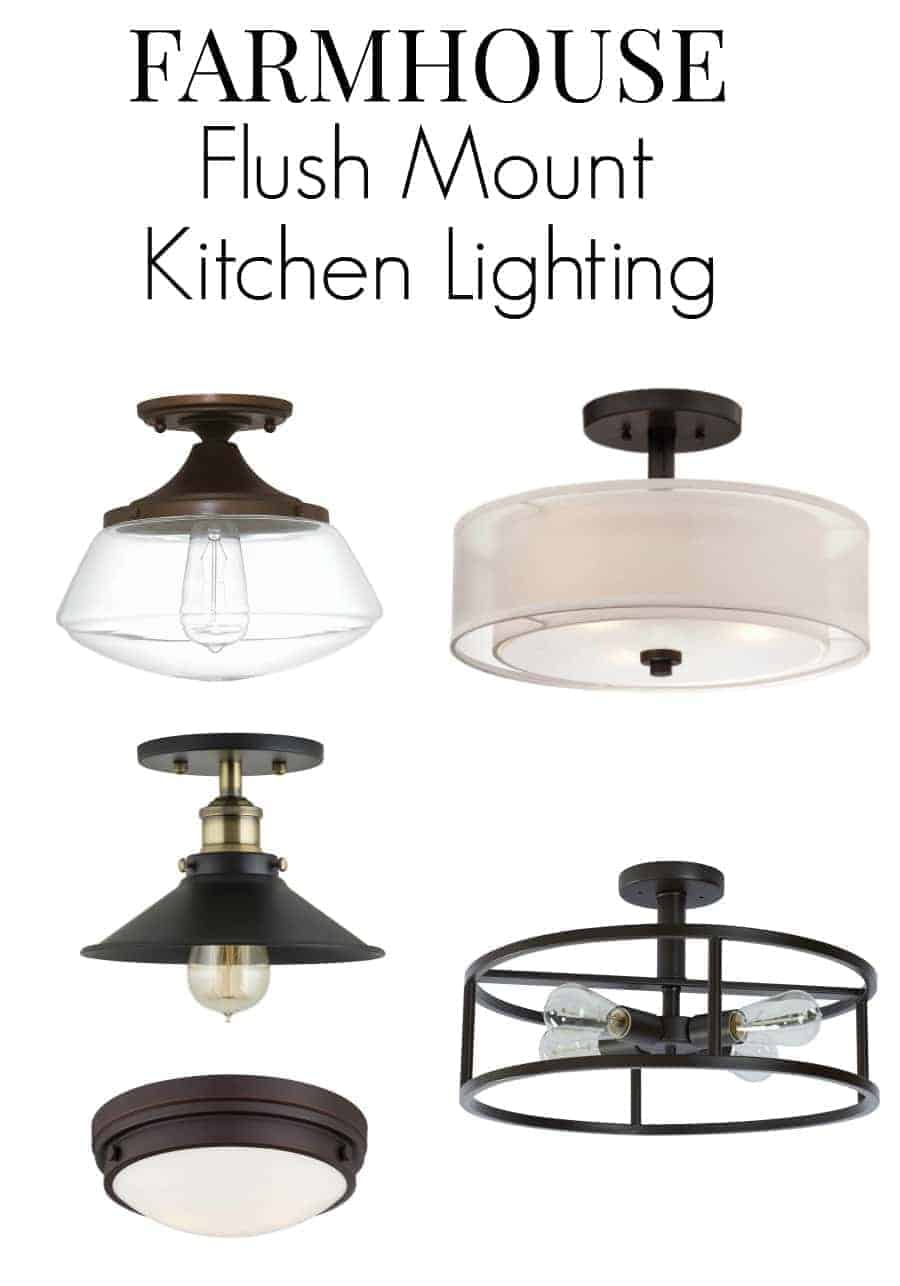 farmhouse kitchen lighting farmhouse kitchen lights No room for pendant lighting in your small kitchen Here are 8 flush mount kitchen