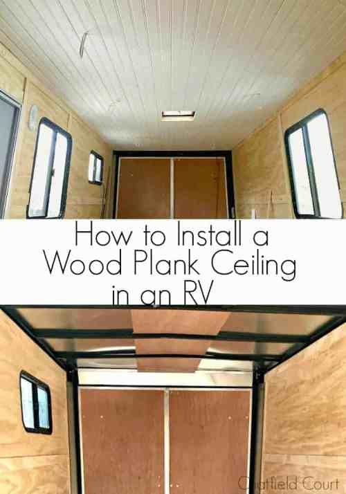 Medium Of Wood Plank Ceiling