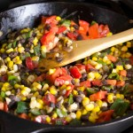 Farmers Market Recipe: Corn, Black Bean, and Poblano Sauté