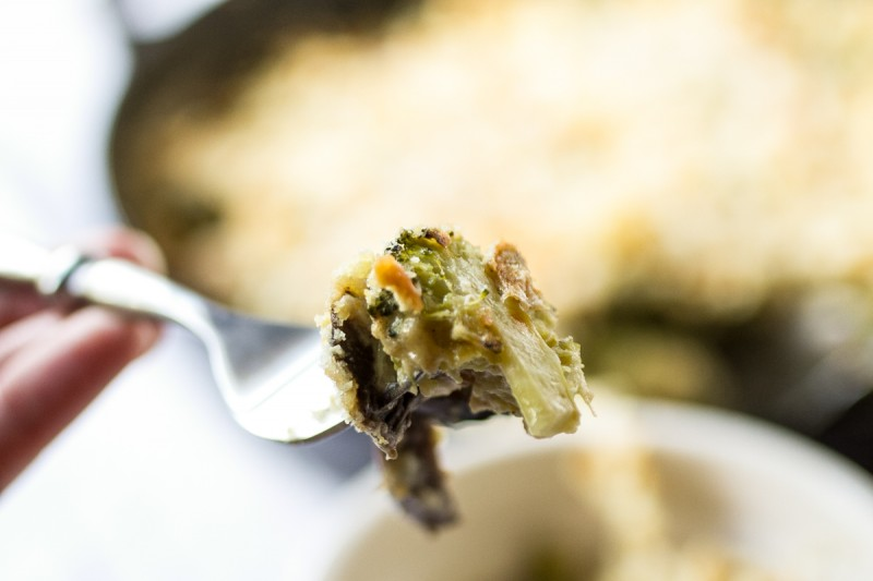 I don't keep canned soups or other convenience foods in the house, so I make my cheesy broccoli casserole from scratch and it's worth it! | recipe from Chattavore.com