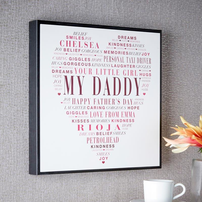 Personalized Word Art Box Frames - word design frames