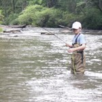 Griffin King Wearing Out Fish on the Chauga River