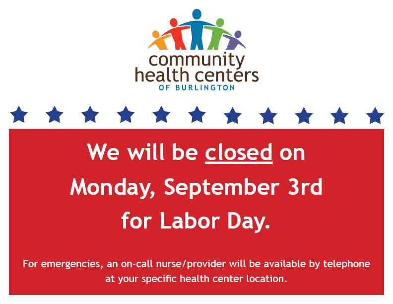 CHCB Closed Monday, September 3rd - Community Health Centers of