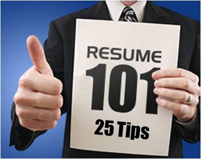 Resume 101 25 Tips To Writing A Resume CHCP Blog