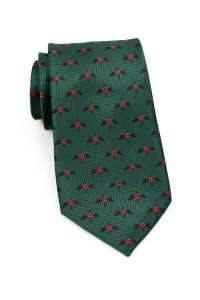 Custom Neckties with All-Over Woven Logos