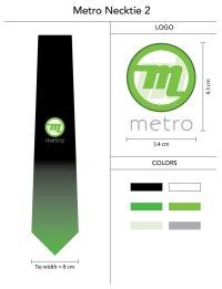 Custom Logo Tie with Gradient Color Fade