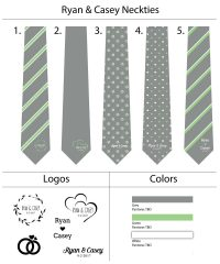 Custom Wedding Ties - Custom Neckties for Wedding Party