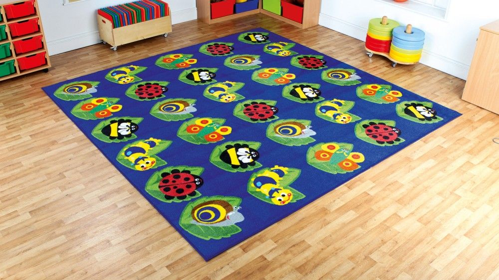 Back To Nature Square Bug Placement Carpetspecial Needs