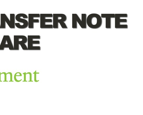 Waste Transfer Note