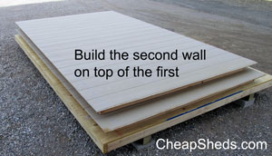 build the second sidewall on top of the first
