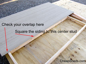 square the siding and nail