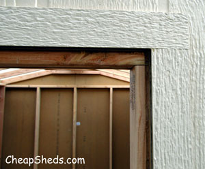 shed door reveal
