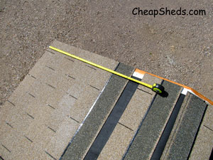 measure rows occasionally shed roof