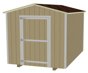 8x10 shed plans free materials list shed building videos for Shed construction cost estimator
