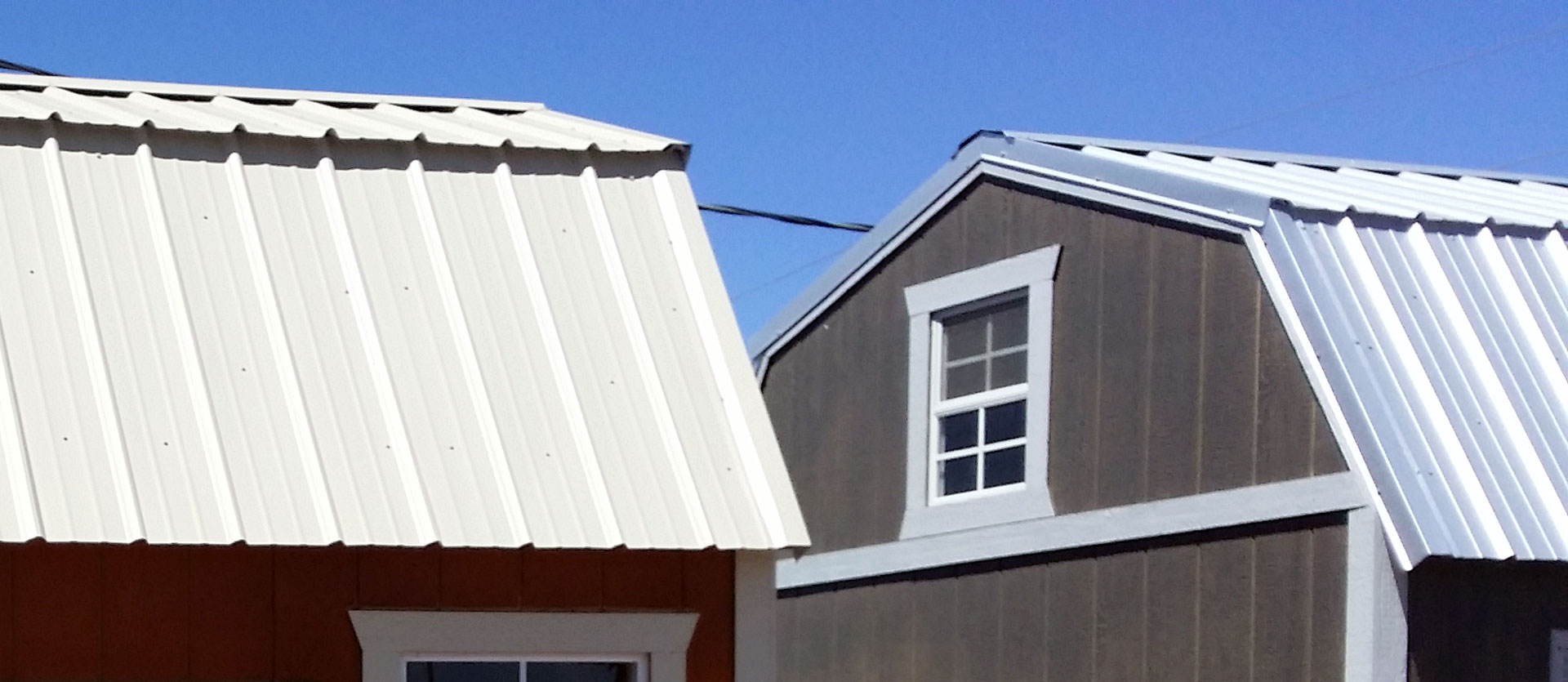How to install a metal roof instead of shingles on your shed for Gambrel roof metal building