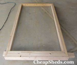 bicycle shed plans door frame