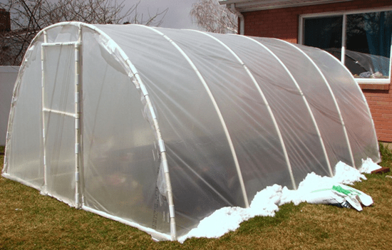 Quonset home garden greenhouse