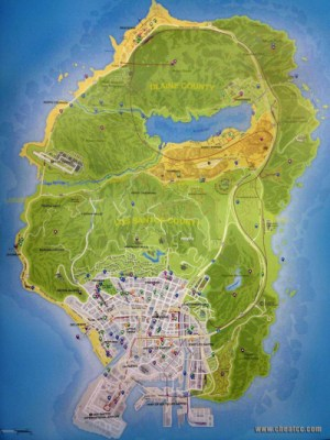 Click here to view a full map of San Andreas in Grand Theft Auto V .