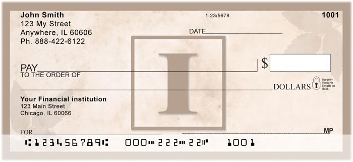 monogrammed personal checks