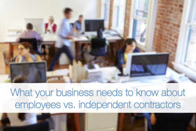 The difference between employees and independent contractors - differences employee independent contractor