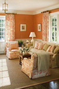 What Color Curtains Go With Burnt Orange Walls - Home The ...