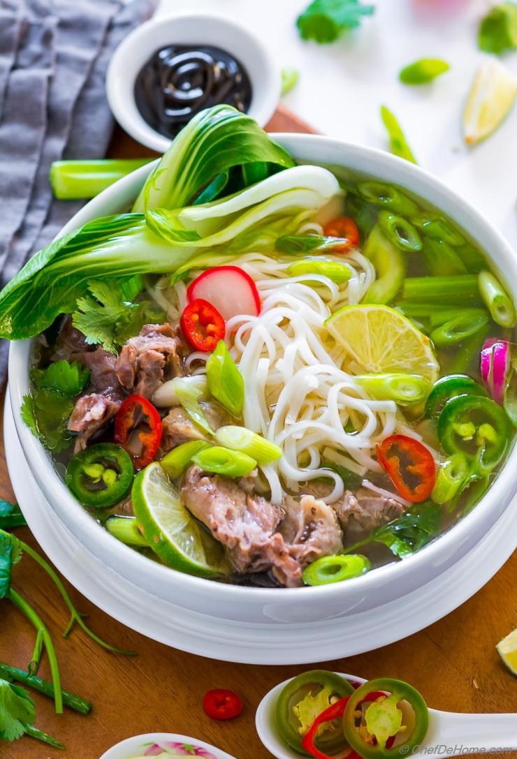 Pho in Instant Pot Recipe | ChefDeHome.com