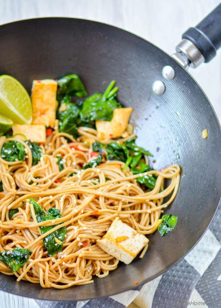 Buckwheat Soba Noodles With Coconut Lime Tofu Recipe Chefdehome