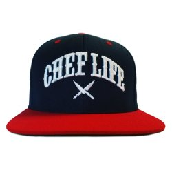 chef og snapback red white blue