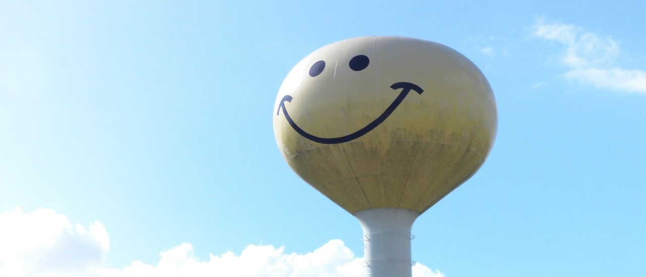 Coolest water tower ever!  Atlanta, IL