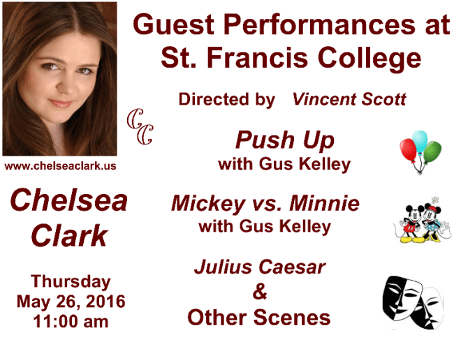 Chelsea Clark Performs at St. Francis College