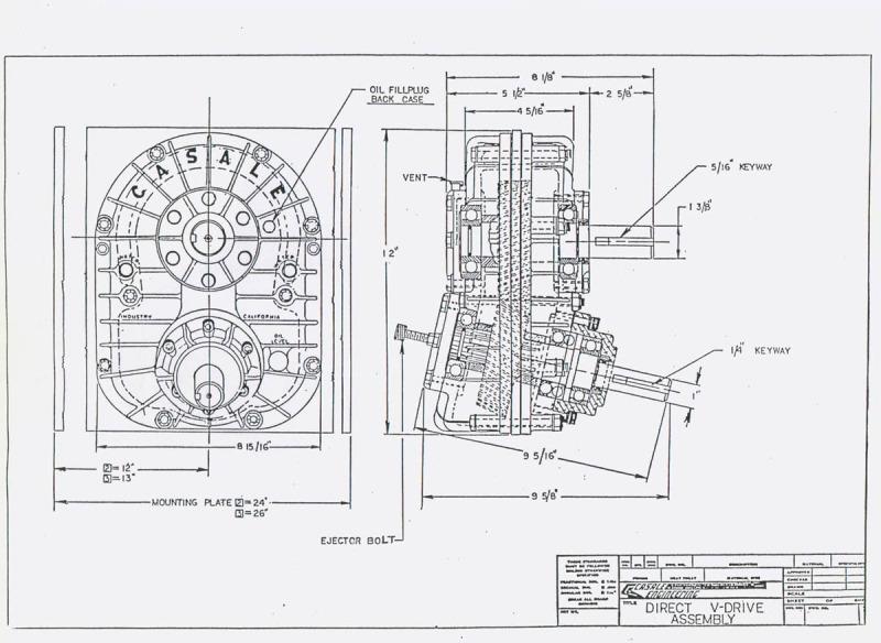 steering schematics v drive boat