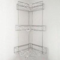 SHOWER CADDY 3 Tier Corner Shelves Shelving Bath Shelf ...