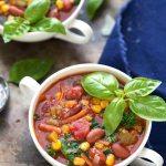 The BEST Crockpot Quinoa Minestrone #crockpot #quinoa #vegetarian