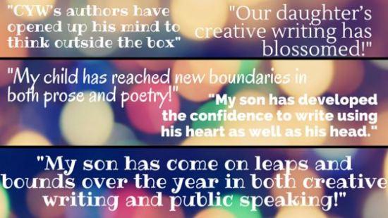 Creative writing testimonials