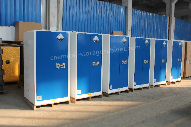 Blue Chemical Liquid Sulfuric Corrosive Storage Cabinet