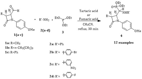 Efficient Synthesis of β-Lactam-Containing α-Aminophosphonates Using