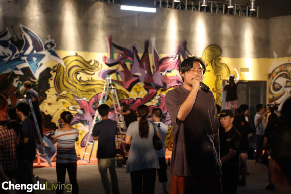 Wall Lords Chengdu rapper Lao Xiong