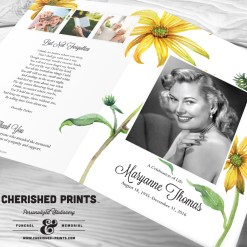 Daisies Celebration of Life Program