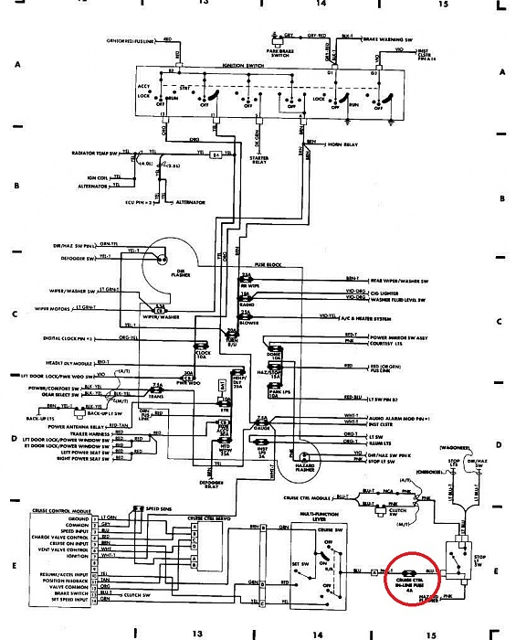 jeep tj front turn signal wiring diagram