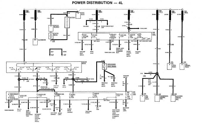 89 jeep cherokee ignition ledningsdiagram