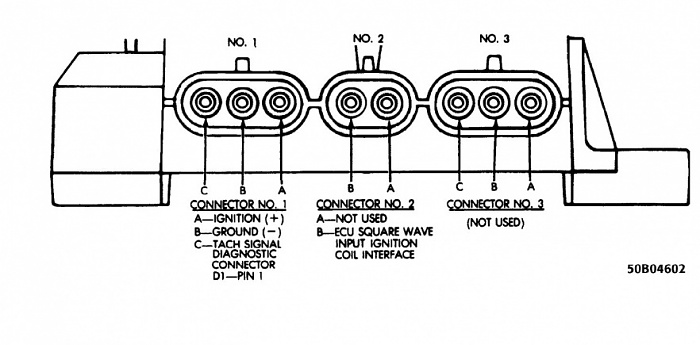 coil and distributor ledningsdiagram