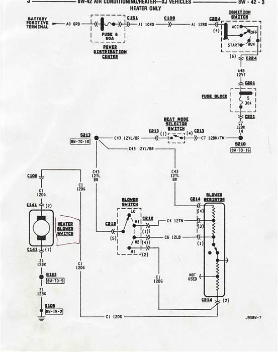 jeep xj blower switch wiring